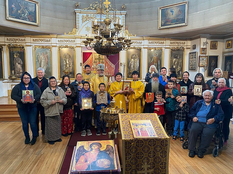 His Eminence with the faithful of St. Michael's Cathedral, Sitka Alaska